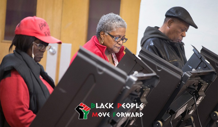 black voters at voting booth