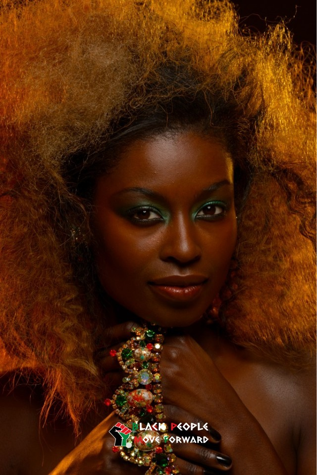 gorgeous dark skin nubian queen